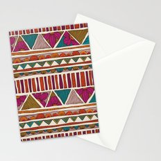 Tribal stripes Stationery Cards