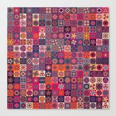 Boho Quilt Pattern 6 Canvas Print