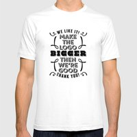 Minor Comment Mens Fitted Tee White SMALL