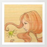 The Octopus Mermaid 1 Art Print