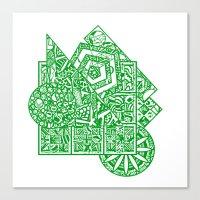 Little Green Men Canvas Print