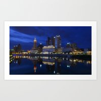 City Reflections Columbu… Art Print