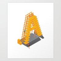 3D letter Art Print