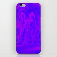 Purple And Pink Swirls  iPhone & iPod Skin
