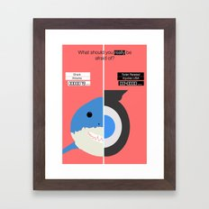 Shark Vs Toilet. Framed Art Print