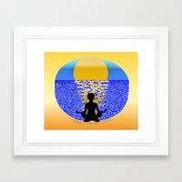 Silence: It Goes Without Saying Framed Art Print