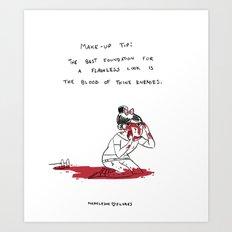 Make Up Tip Art Print