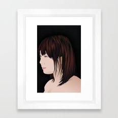 japan girl Framed Art Print