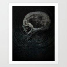 Charcoal Skull Study Art Print