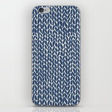Hand Knit Navy iPhone & iPod Skin