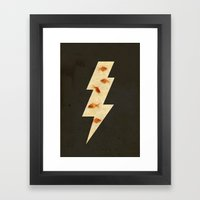 lightning fish Framed Art Print