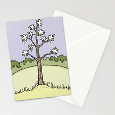 White Flower Tree Stationery Cards