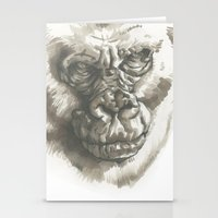 Gorilla Sketch Stationery Cards