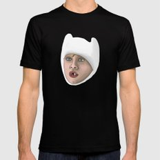 Finn the human Mens Fitted Tee Black SMALL