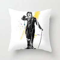 charlie chaplin 05 Throw Pillow