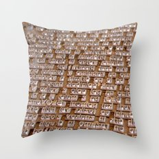 Letterpress #1 Throw Pillow