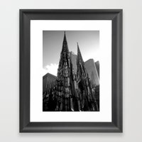 Black And White New YOrk Framed Art Print