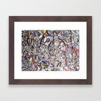 Chromatic Collisions Framed Art Print