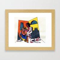 The artist and his artwork Framed Art Print