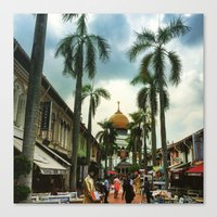 Colors of Singapore Canvas Print
