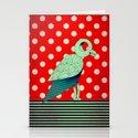 parrot dot ! Stationery Cards