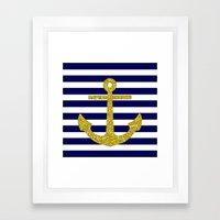 Gold Anchor Framed Art Print