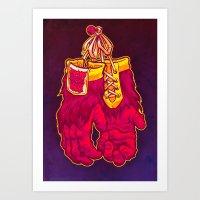 GORILLA GLOVES Art Print