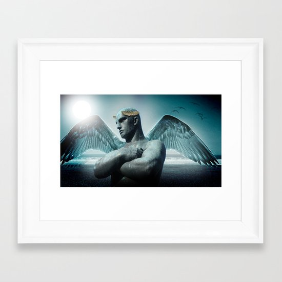 the torment of Icarus Framed Art Print