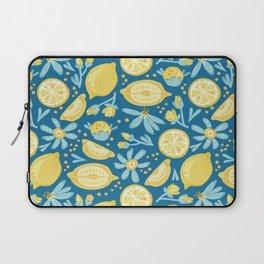 Laptop Sleeve - Lemon Pattern Blue - LaVieClaire