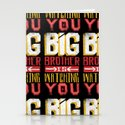 BIG BROTHER IS WATCHING YOU Stationery Cards