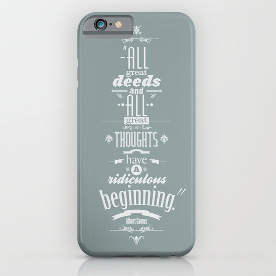 Albert Camus quotes iPhone & iPod Case