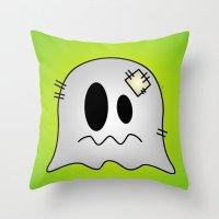 Cute Little Ghost Throw Pillow