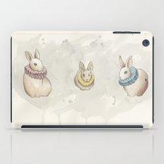 Rabbits in Ruffs iPad Case