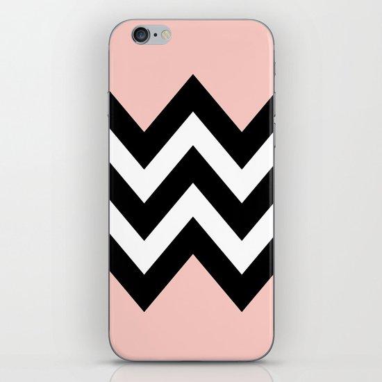 DOUBLE COLORBLOCK CHEVRON {PEACH/PEACH} iPhone & iPod Skin