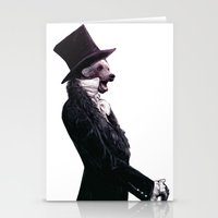 Unbearable gentleman Stationery Cards