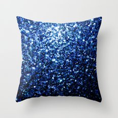 Beautiful Dark Blue sparkles Throw Pillow