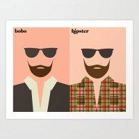 La Barbe Art Print