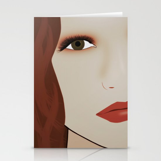 Red Head from Another Dream Stationery Card