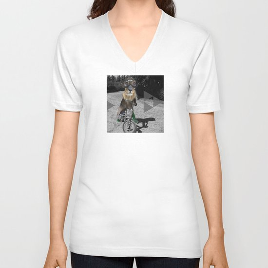 LaufRad Löwen Kind Collage V-neck T-shirt