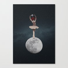 Earth and Moon Ballet Canvas Print