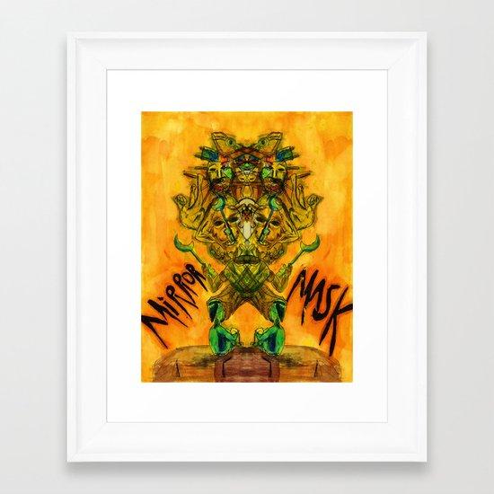 Mirror Mask Framed Art Print