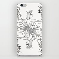 The Queen (Twins) - Blac… iPhone & iPod Skin
