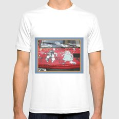 Hot Wheels White Mens Fitted Tee SMALL