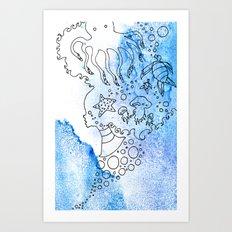 Aqua's Breath Art Print
