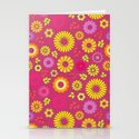 Country flowers in pink Stationery Cards
