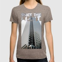 Skies The Limit Womens Fitted Tee Tri-Coffee SMALL