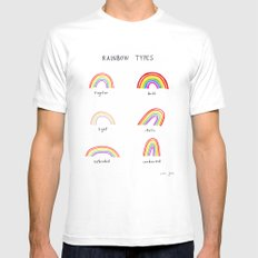 rainbow types Mens Fitted Tee SMALL White