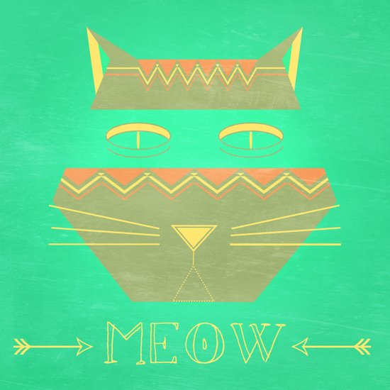 almost in cognito meow Art Print