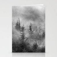 Misty forest. BW Stationery Cards