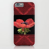 Red Anenome iPhone 6 Slim Case